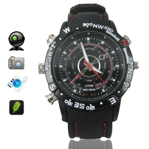 waterproof camera spy watch